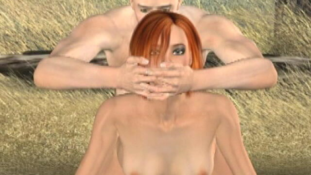 Slutty Redheaded Three-d Tremendous Type Tammy Will Get Done Domestic Dog Outside