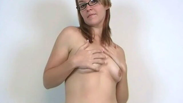 Stockinged Newbie Bairn Honey In Glasses Heidi Appearing Her Perky Magambos And Dancing Seductively For You