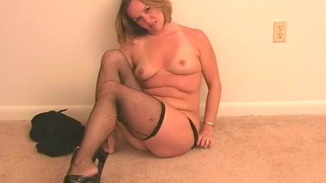 Excellent Blonde Spouse Tessa Stripping Black Lingeria And Teasing Us Along With Her Stockings