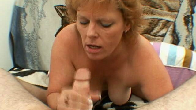 Trashy Grandmother With Ample Funbags Megan Offers Oral Job And Hj On Her Knees