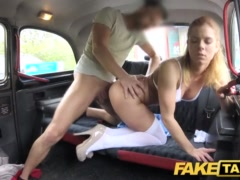 Faux Cab Nurse In Fabulous Undergarments Has Automotive Lovemaking