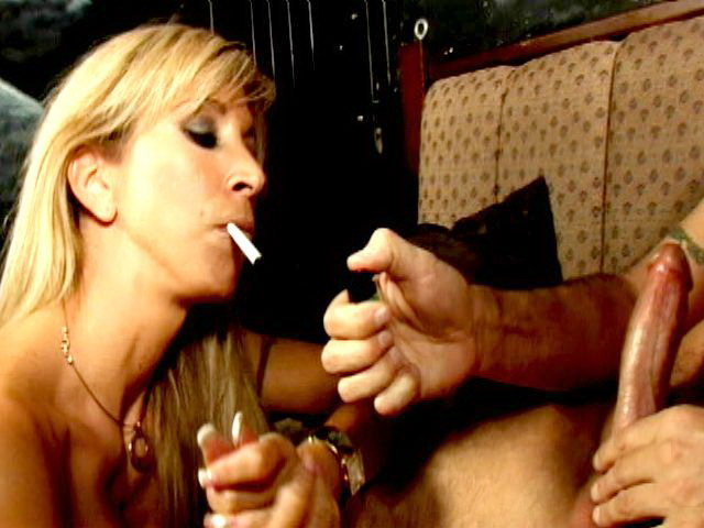 Ultra-kinky Blondie Babe Morgan Ray Smoking And Gargling A Immense Trouser Snake On Her Knees