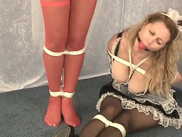 2 Warm And Huge-boobed Maids Autumn And Sirena Will Get Abducted And Bound Up
