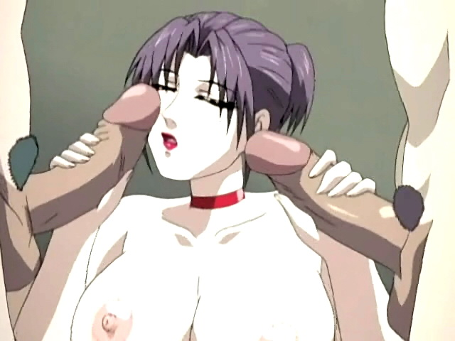 Huge-titted Anime Porn Doll Takes 2 Cocks Simultaneously
