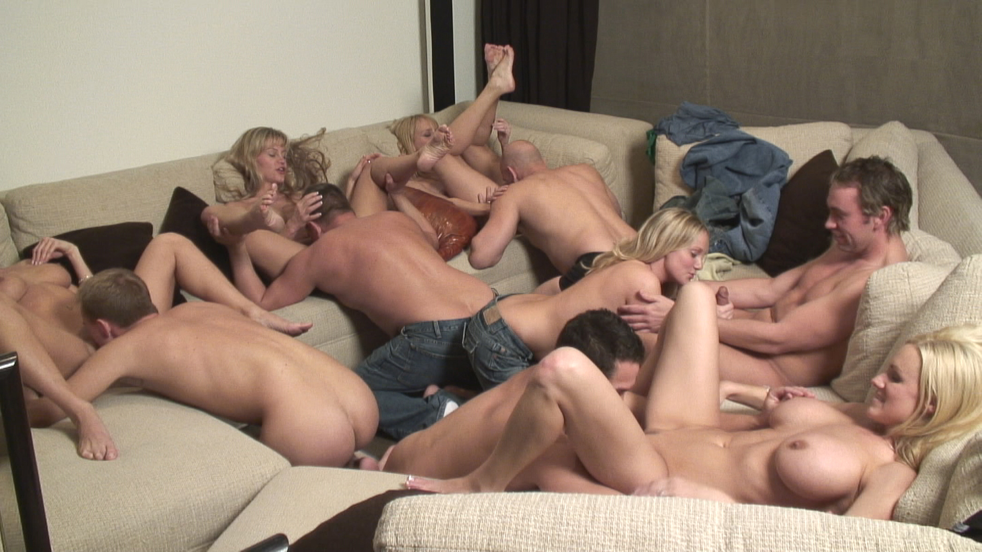 Party Game Leads To A Huge Orgy