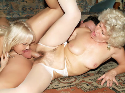 Super-steamy Grannies In Lingeries Threeway