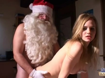 Super-naughty Teeny Is Ravaging Santa Claus