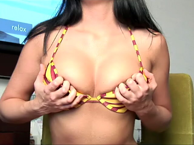 Cutie Dark-haired Teenage Josie Frolicking Along With Her Divine Boobers For You